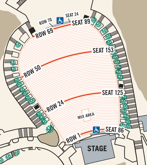 Red Rocks Map Seating Map   Find the best seats at Red Rocks | Redrocksonline.co
