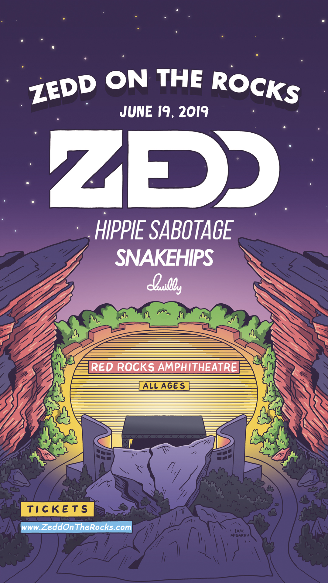 Zedd On the Rocks Schedule and lineup